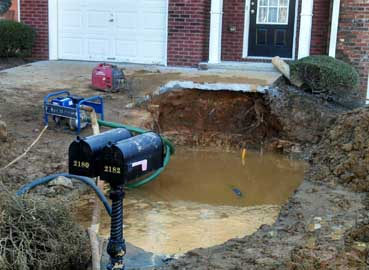 Water Leak Repair Any Size